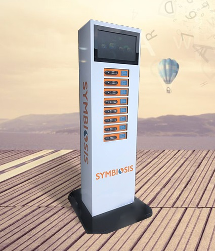 Free Standing 6 and 8 Locker Mobile Phone Charging Solution
